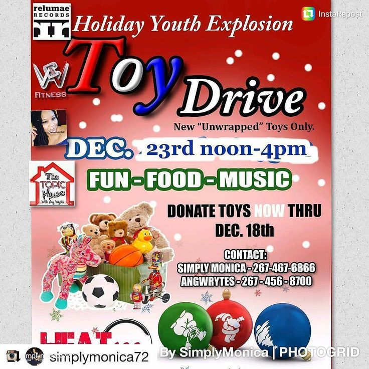 Sponsors still needed.  Donate an unwrapped new toy now thru December 18th.  Stop off locations  Sturgis Playground 200- 220 W. 65th Ave Phila. Pa 19126 and Heat100radio 8325 Stenton Ave. Phila. PA  CALL an register your child as soon as possible.  #philly #olney #neighbors #toys #poets #rappers #hosts #comedians #writers #underground #iheart #music #internetradio #sixers #eagles #phillies #flyers #spokenwords #bookclubs#books #authors