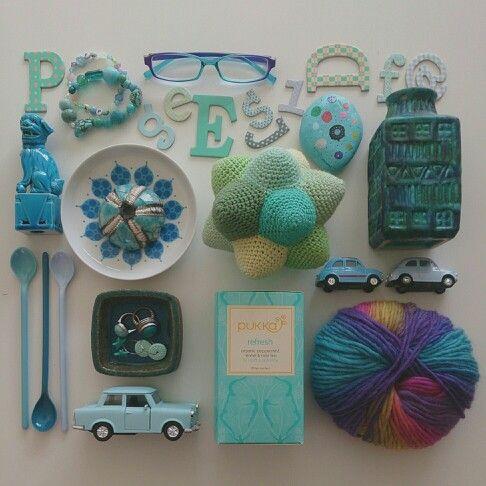 Blue turkise moodboard
