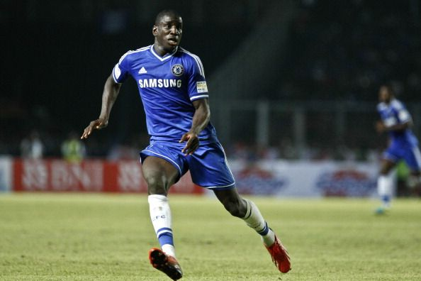 Demba Ba of Chelsea run for the ball during the match between Chelsea and Indonesia All-Stars at Gelora Bung Karno Stadium on July 25, 2013 in Jakarta, Indonesia