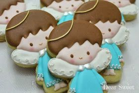 Angel cookies~ By dear sweet, blue, halo, wings