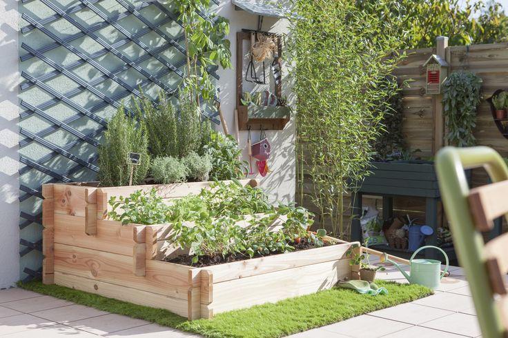 Les 352 meilleures images du tableau jardin sur pinterest - Leroy merlin carre potager ...