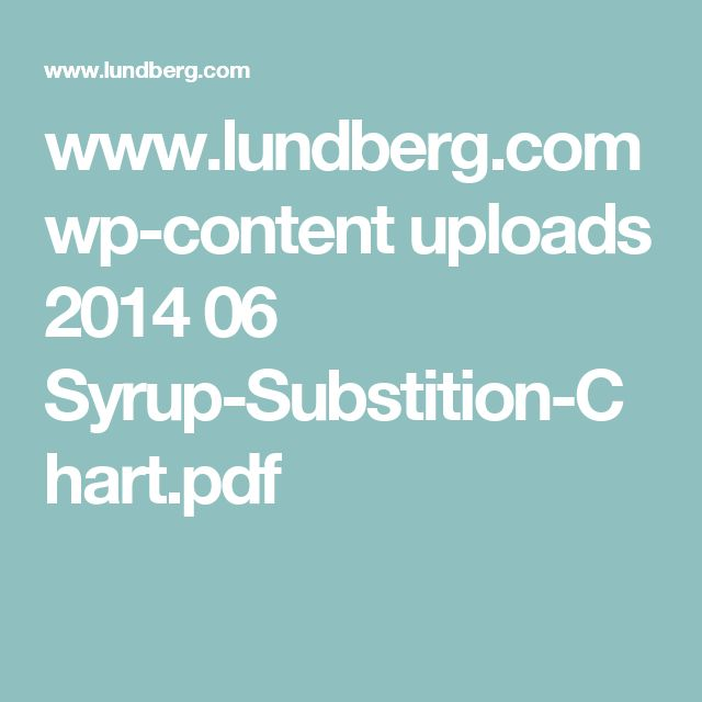 www.lundberg.com wp-content uploads 2014 06 Syrup-Substition-Chart.pdf