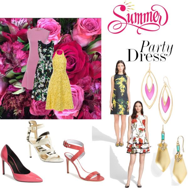 Summer Party Dressing With The RealReal: Contest Entry by sindypost on Polyvore featuring Dolce&Gabbana, Giambattista Valli, Christian Dior, Yves Saint Laurent, Jimmy Choo, Pedro Garcà a and Alexis Bittar