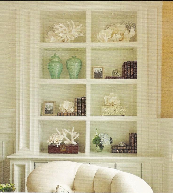 beachy bookshelves - bathroom accesssoriesDecor Ideas, Beach House, Coastal Bookshelves, Built In, Bookcas, Book Shelves, Beachy Touch, Newport Beach, Bookshelf Style