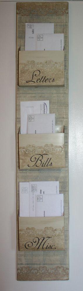 DIY Shabby Chic Mail Organizer