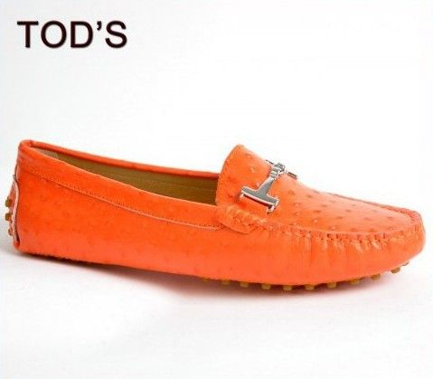 Orange Shoes | ... shoes outlet online,cheap Tods Gommino Leather Orange Shoes for women