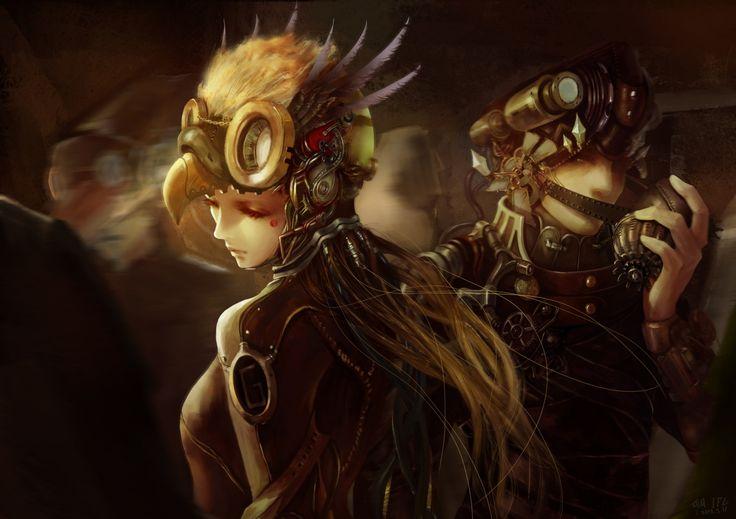 Steampunk Men Technics Fantasy Fantasy Girls