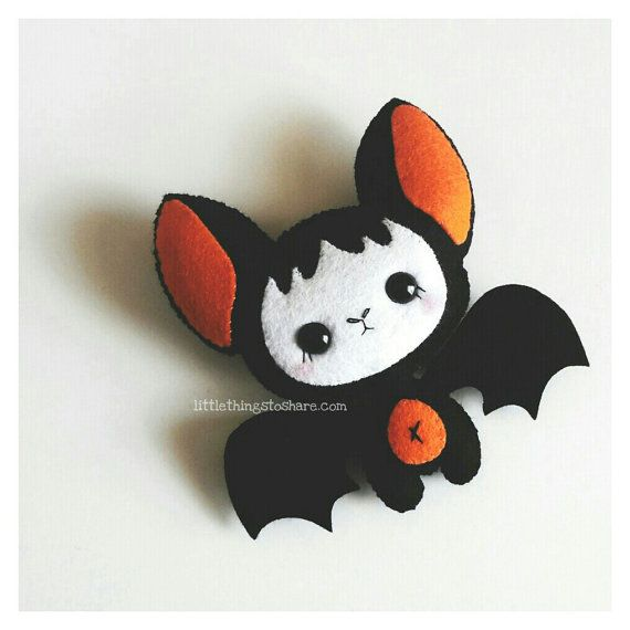 Baby Bat pattern PDF file-Halloween Ornament-Felt
