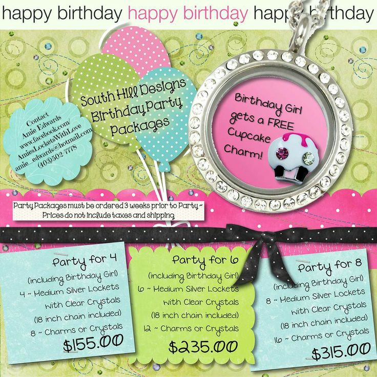 Birthday Party Packages! Medium Silver Locket with Crystals