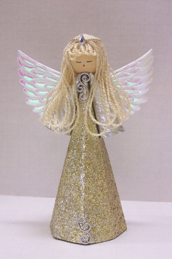 Traditional Style Gold Angel for a Christmas by TammysCraftShoppe