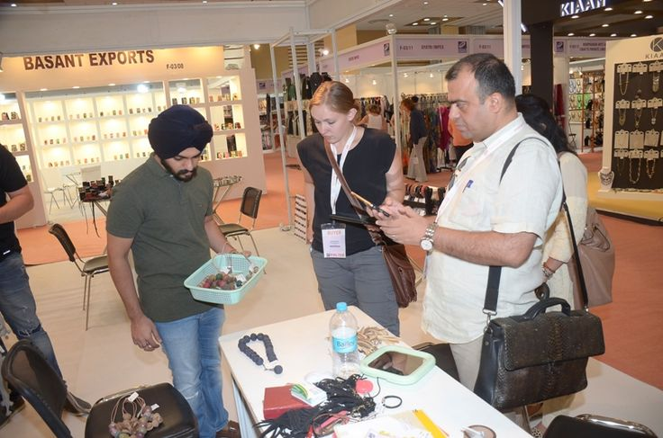 Buyers had a great buying experience at The IFJAS, 2016 #ifjas #tradeshow — at India Expo Mart.