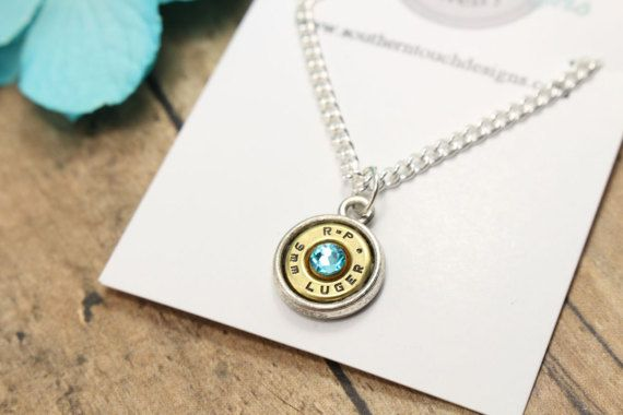 9mm Bullet Necklace - Bullet Jewelry - Pendant Necklace - Ammo Jewelry - Gift Idea - Gun Necklace - Country Jewelry - Personalized Necklace