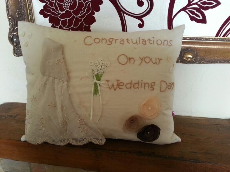 My wedding cushion