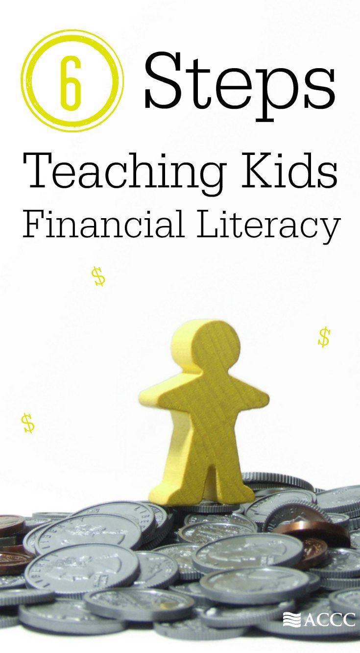 6 steps to use when teaching your kids about finances. Start kids early developing financial literacy to give them a great chance of financial success in the future.
