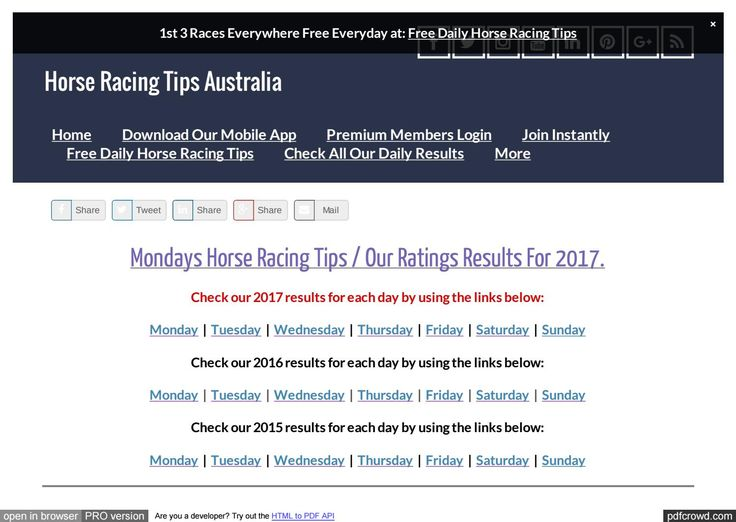 Mondays July 3rd Horse Racing Tips Today's Results