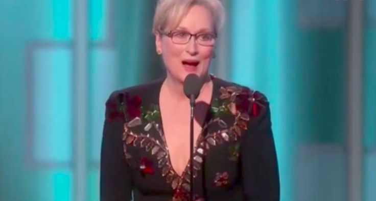 Meryl Streep tears down Donald Trump at the 2017 Golden Globes (Screen capture)
