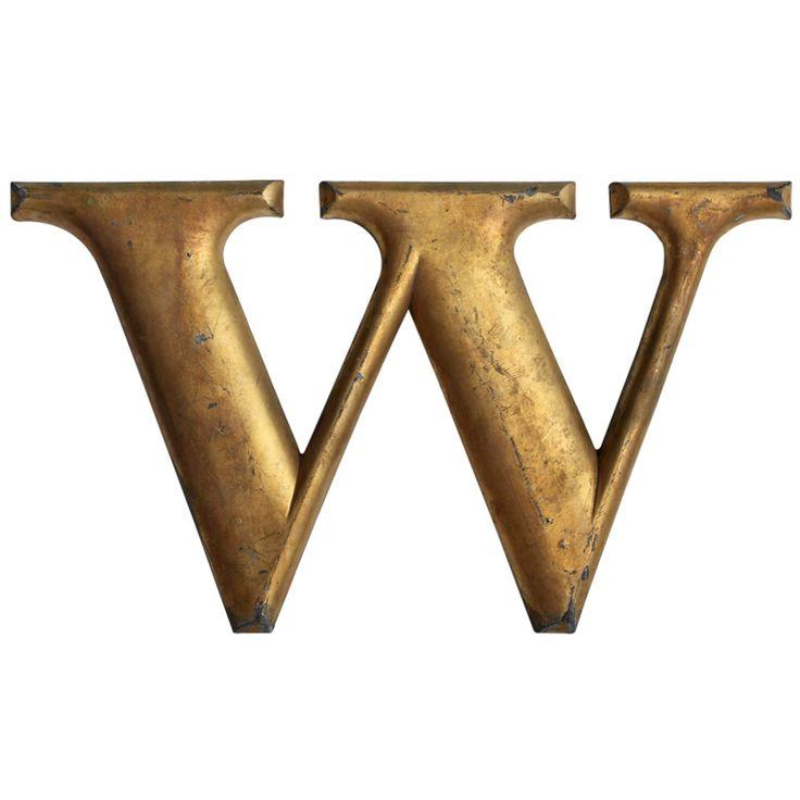 1920s woolworth cast iron letter w lettere arte e popolare