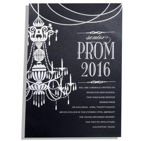 Chic Chandelier Invitation-Prom Invitation