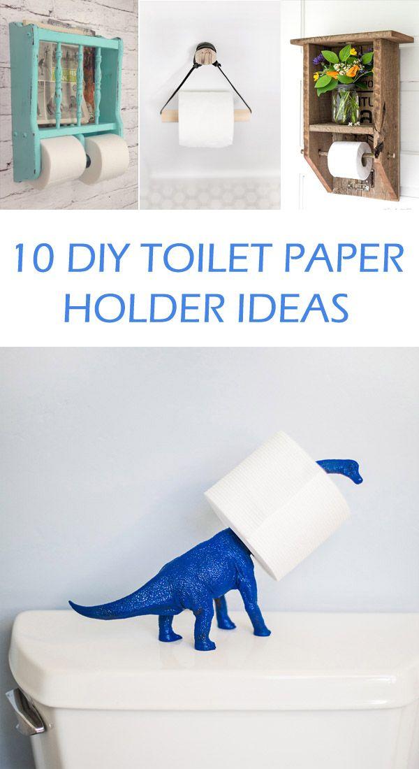 10 Amazing DIY Toilet Paper Holder Ideas