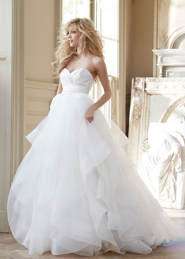 love love love organza hayley paige wedding dresses | Wedding Dresses: Hayley Paige Fall 2013 Collection