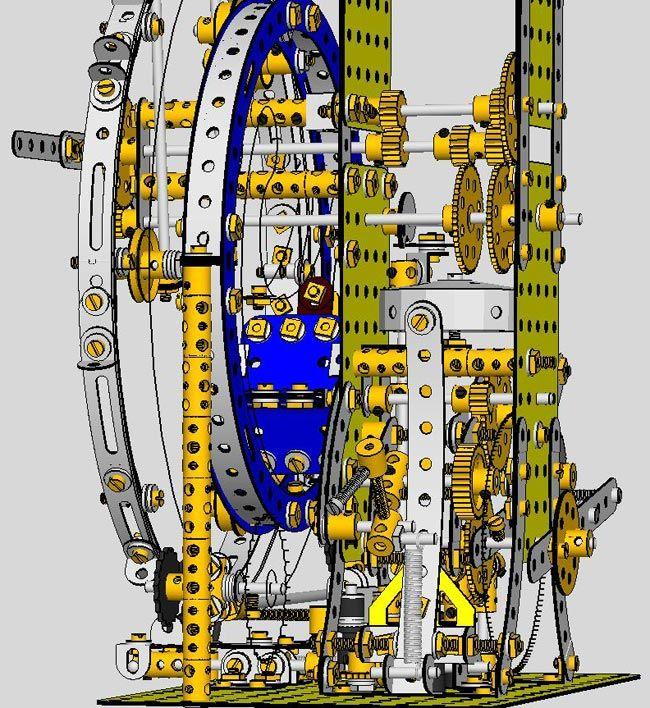 Meccano Clock Mechanism