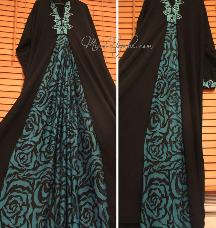 Miss Hijabi: DIY - Turquoise Panel Abaya: http://www.misshijabi.com/2012/06/diy-turquoise-panel-abaya.html