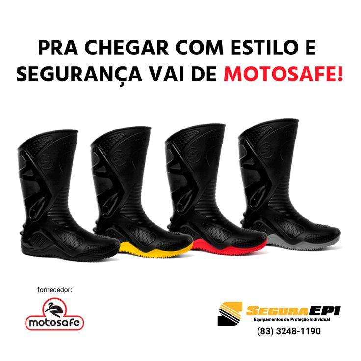 Anda muito de moto e quer ficar seguro, confortável e estiloso? Adquira sua motosafe com a gente! #SeguraEPI #seguraça #motoboy #motocicleta