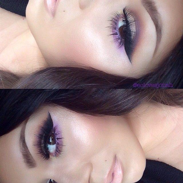 maquillaje en tono morado