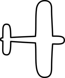 airplane outline – Item 1