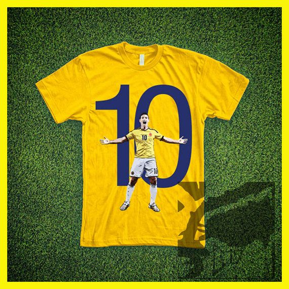 James 10 T-Shirt  Colombia Football #tshirt #tee #colombia #james