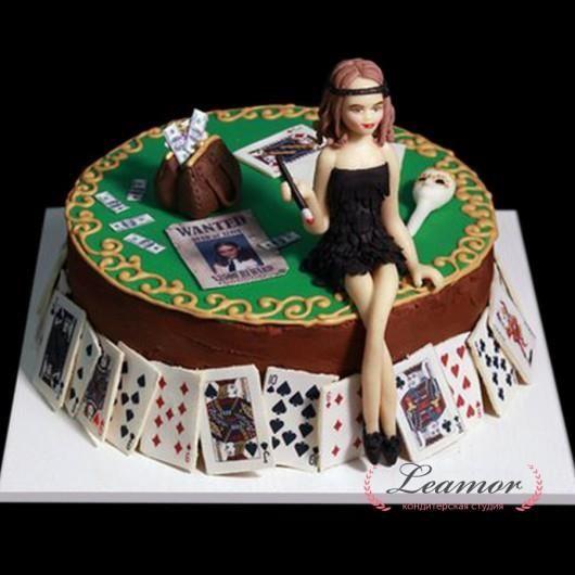 Торт покерный стол