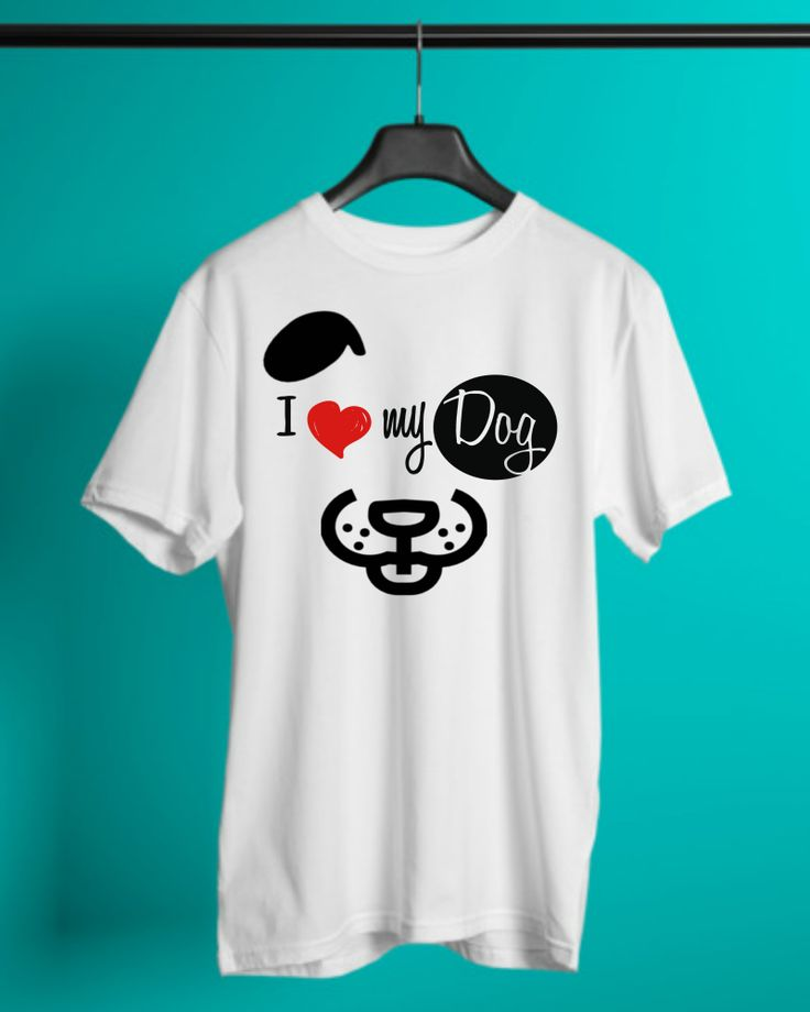 I love my Dog - Tshirt. Can you imagine your life without your love? Don´t miss this shirt to show your love for your best friend!
