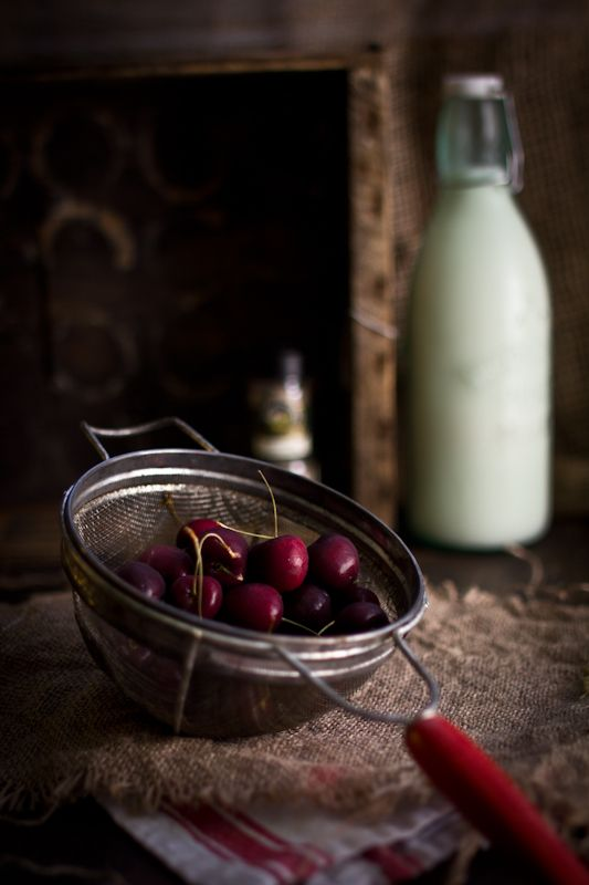 Adventures in Cooking: Cardamom Brown Sugar Cake with Fresh Cherries & Rose Cream