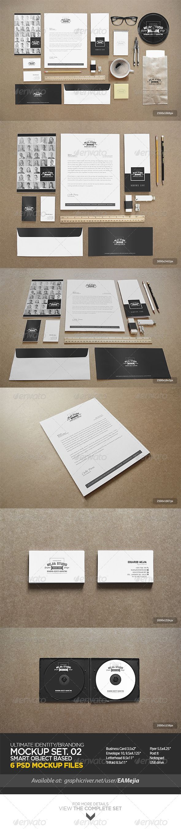 Ultimate Identity / Branding Mock-Up Set 02 - Print Product Mock-Ups
