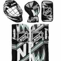 Franklin Sports NHL Mini Hockey Goalie Equipment with Mask Set