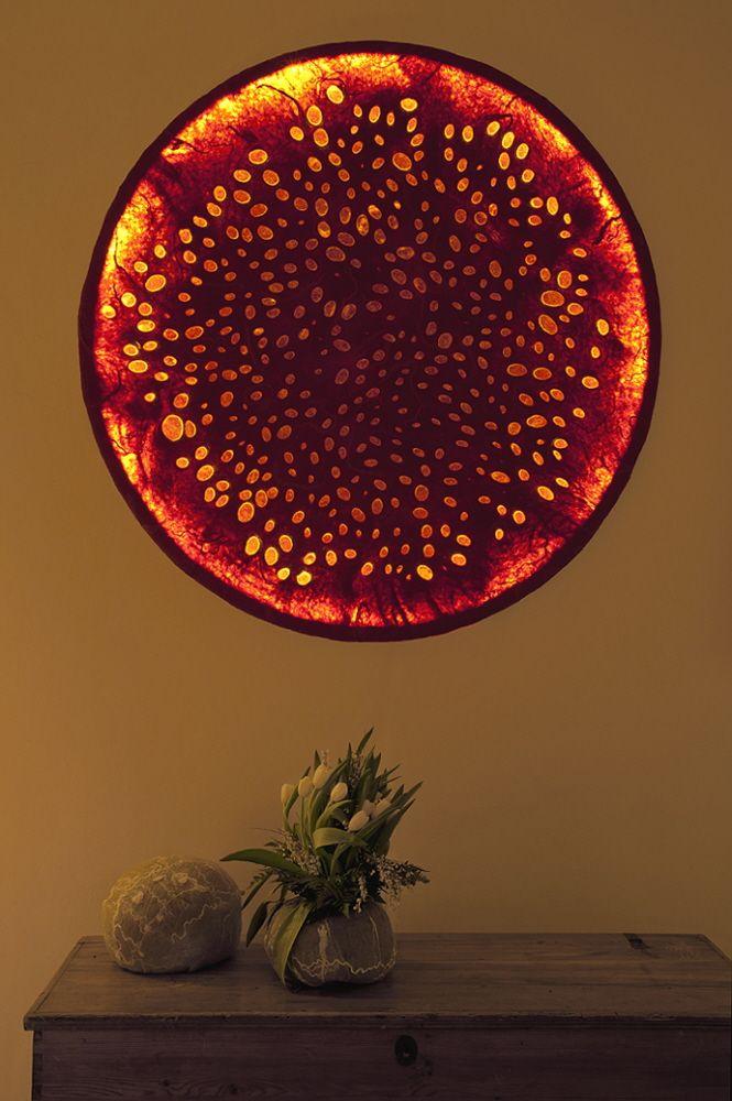 Ceiling Lamp in nunofelt 2013 by Judith Byberg at Coroflot.com