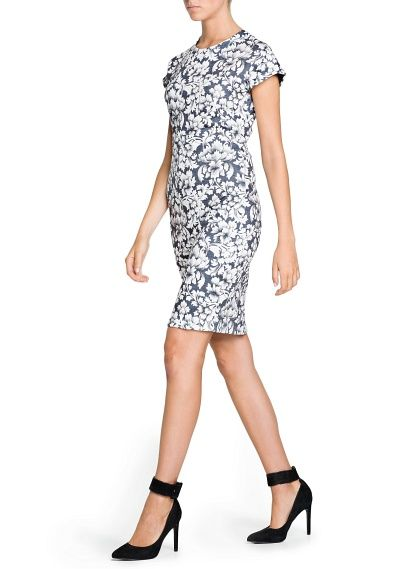 Baroque fitted printed dress - outlet now 24,99€