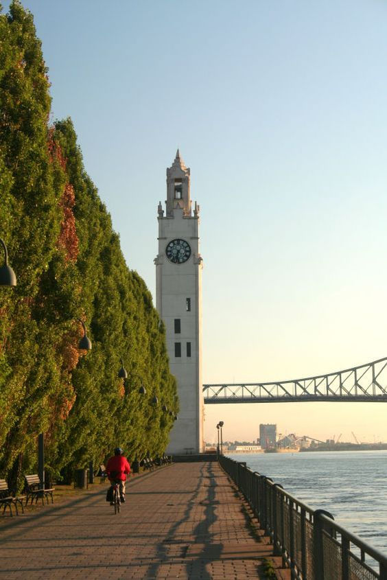 Montreal by bike with Old-Port Clock Tower
