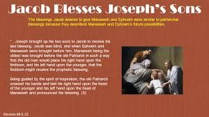 Image result for jacob blessed joseph sons