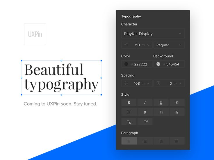Beautiful typography in UXPin