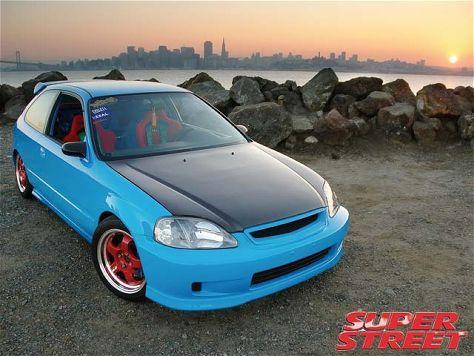 #Blue Honda Civic
