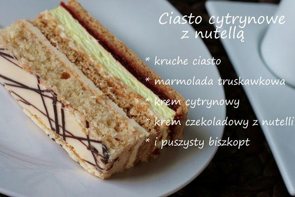 Ciasto cytrynowe z nutellą