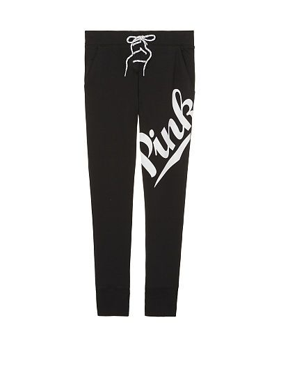 Lace-Up Skinny Collegiate Pant PINK