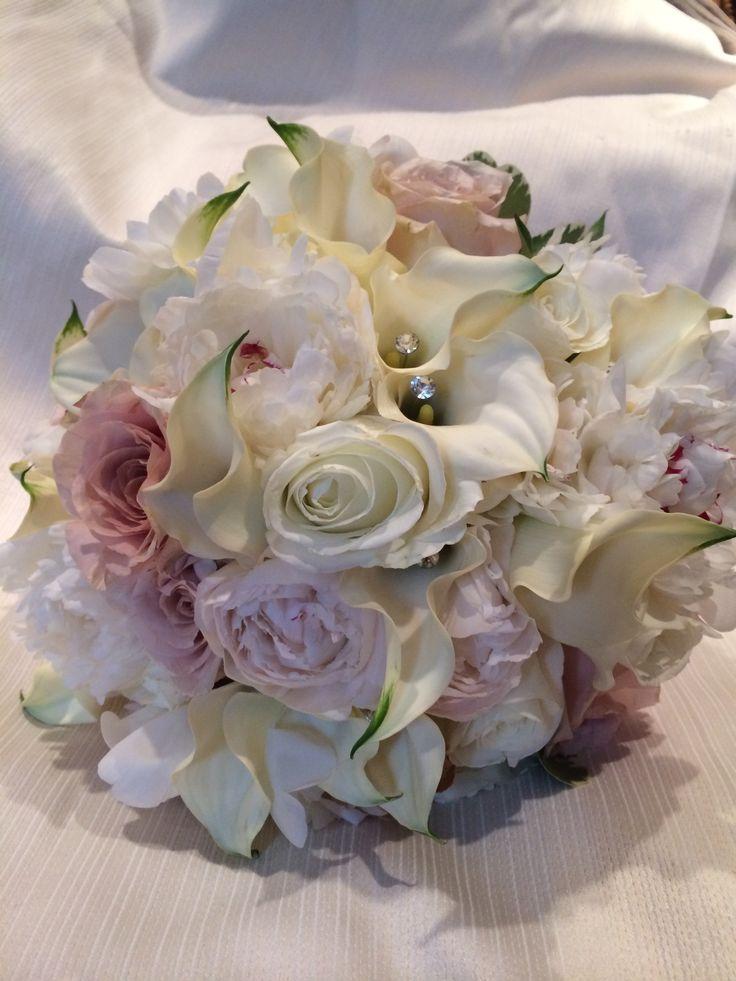 Bride/ bridesmaid bouquet w/ gemstone accents ~ Amaryllis Event Decor Northvale, NJ