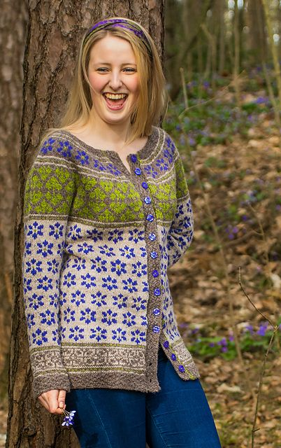 Ravelry: Blåveispiken - Blue Anemone Girl pattern by Cecilie Kaurin and Linn Bryhn Jacobsen