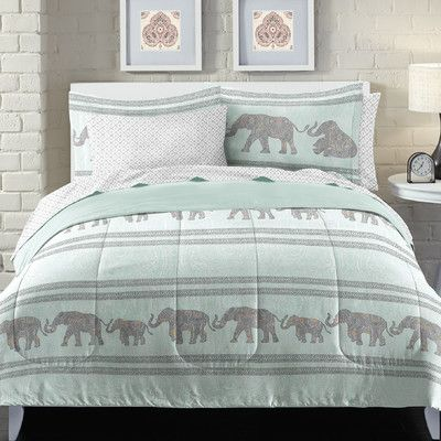 Features: -100% Polyester microfiber - 75 GSM. -Imported. -Machine washable. -Set includes 1 comforter, 1 standard sham, 1 flat sheet, 1 fitted sheet and 1 standard pillowcase(Twin). -Set include