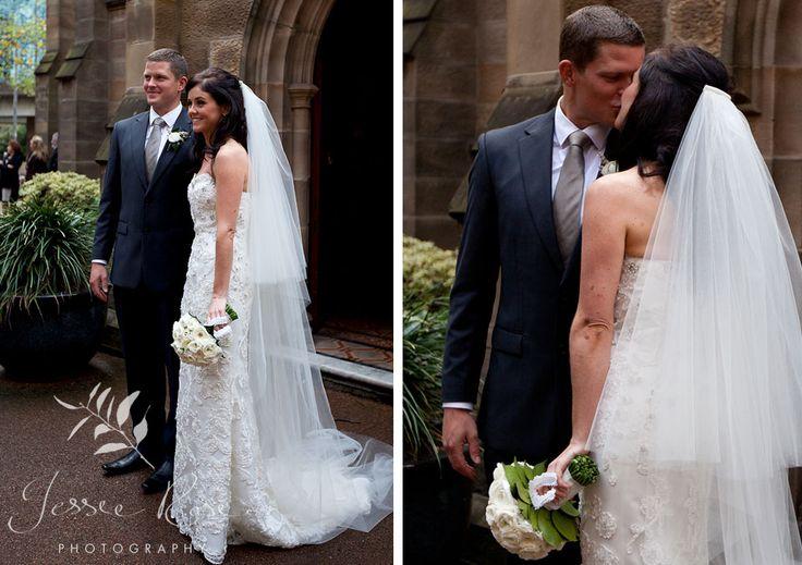 Ash & Rob @ Jessie Rose Photography #springwedding #bride #sydney #australia #springwedding #spring #groom #therocks #kiss #church #wedding #photography #weddingphotography #jessierosephotography