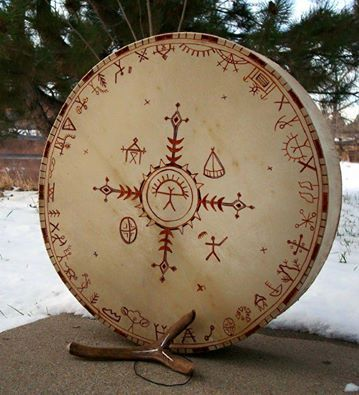 Sacred Drum | Maya Moon Healing Arts drums with symbols, Mongolia,