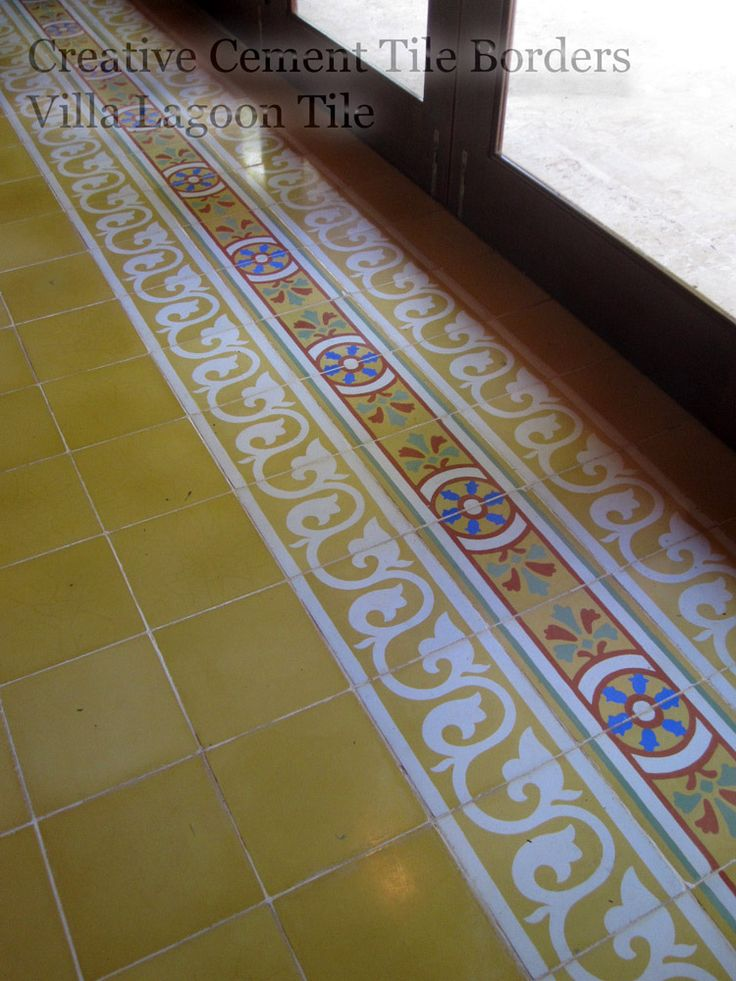 20 best Cement Tile Borders images on Pinterest Cement tiles - fliesen bordre
