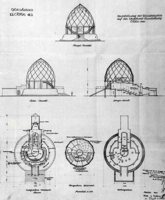 glass pavilion by bruno taut architecture bruno taut cologne werkbund ausstellung 1914. Black Bedroom Furniture Sets. Home Design Ideas
